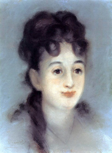 Eva Gonzales (1849-83, French  painter)(Edouard Manet)
